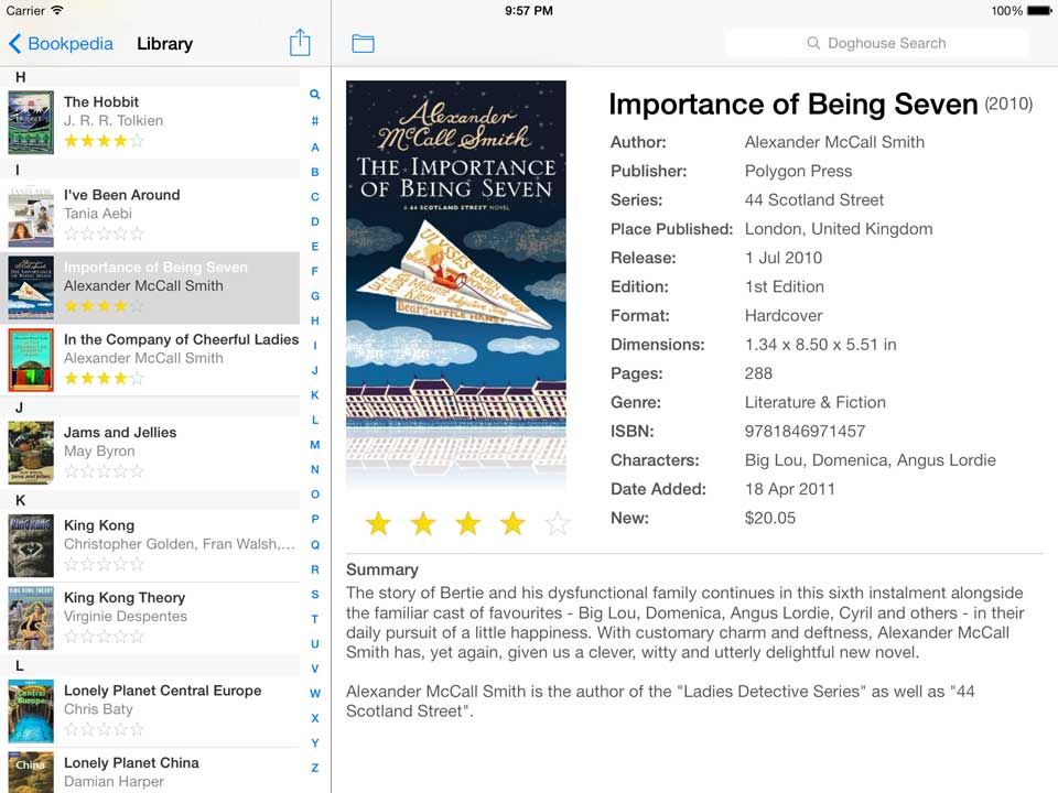 Bookpedia iPad iOS 7