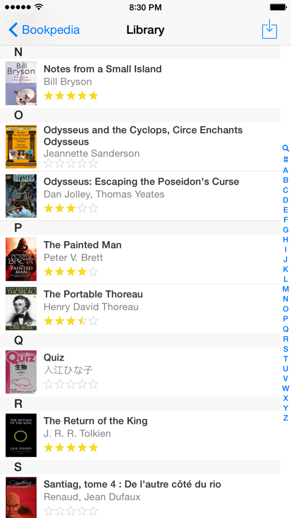 Books in Pocketpedia iPhone 6
